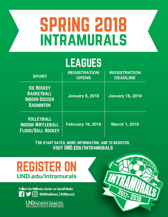 Intramurals Registration Dates