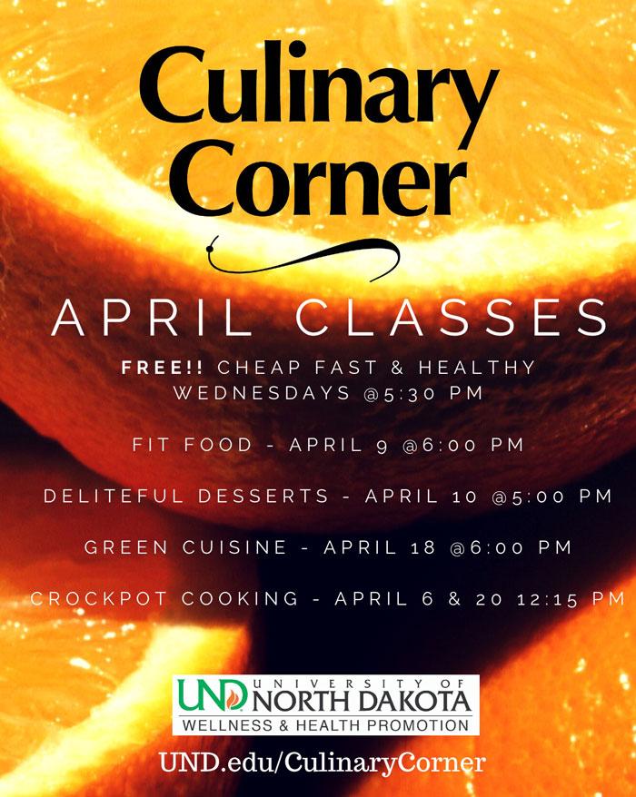 Culinary Corner classes