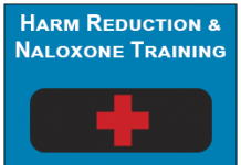 Black Naloxone Kit with Red cross