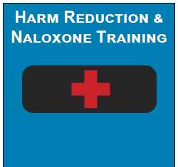 Black Naloxone Kit with Red cross