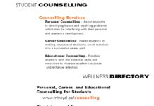 STUDENT COUNSELLING COUNSELLING SERVICES Personal Counselling - Assist students in identifying issues and resolving problems which may be interfering with their personal and academic development. Career Counselling - Assist students in making educational decisions which translate into a successful career path. Educational Counselling - Provides students with the essential skills and resources to increase academic success and enhance retention. 403.440.6362 WELLNESS SERVICES mtroyal.ca/counselling mtroyal.ca/wellness WELLNESS SERVICES Personal, Career, and Educational Counselling for Students mtroyal.ca/counselling Physicians and Nurses mtroyal.ca/healthservices Chiropractors / Acupuncturist Athletic / Massage / Physical Therapists mtroyal.ca/optimaltherapies Health Promotion and Volunteer Opportunities mtroyal.ca/healthycampus Breathing Room online resilency tool mymru.ca - Student Life page Student Health 101 e-zine : wellness and student lifestyle tips mtroyal.ca/wellnessU216 WELLNESS SERVICES mtroyal.ca/wellness mtroyal.ca/wellness
