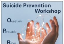 Picture of hands holding lights for suicide prevention training