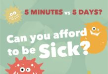 5 MINUTES vs 5 DAYS? FLU CLINICS Various locations & times in November 2017 FREE CANDY! Bring your Care Card if you can! Talk to a registered nurse at HealthLink BC: Dial 811 visit health.uvic.ca or immunizeBC.ca Can you afford to be Sick?