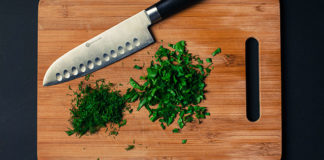 Herbs-on-a-cutting-board
