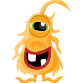 Yellow monster with one eye