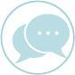 Icons: Speech bubbles