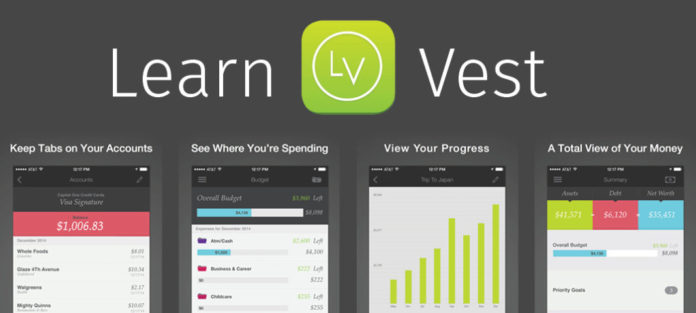 Screen shots of LearVest app