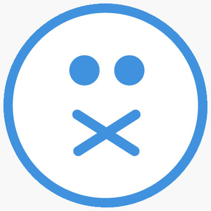 X over mouth emoji