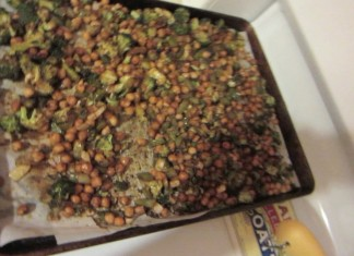 Mama mia magnificent chickpea broccoli wrap filling