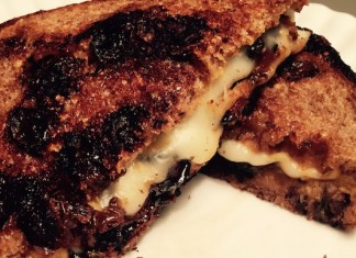Coffee-steeped bacon grilled cheese