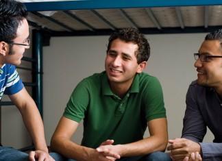 Three male roommates