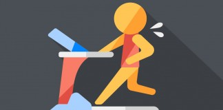 Illustration of a runner on a treadmill