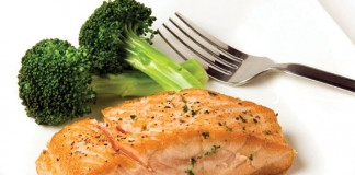fish and broccoli