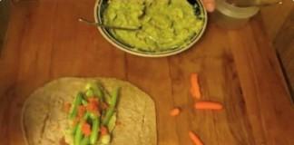 Avocado, White Bean and Veggie Wrap