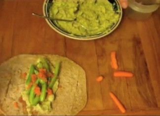 Avocado, White Bean and Veggie Wrap