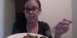 Roast veg and scrambled eggs