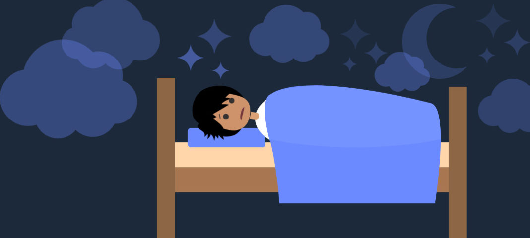 Illustration of student sleeping
