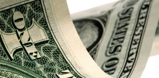 Close up of dollar bill