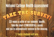 Take the CSI National College Health Association health survey and be entered to win one of 17 Blue Tooth earbuds or speakers