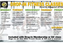 CSI Student Recreation Center Fall 2018 Dropin Fitness Classes