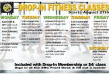 CSI Student Recreation Center Fall 2018 Dropin Fitness Classes