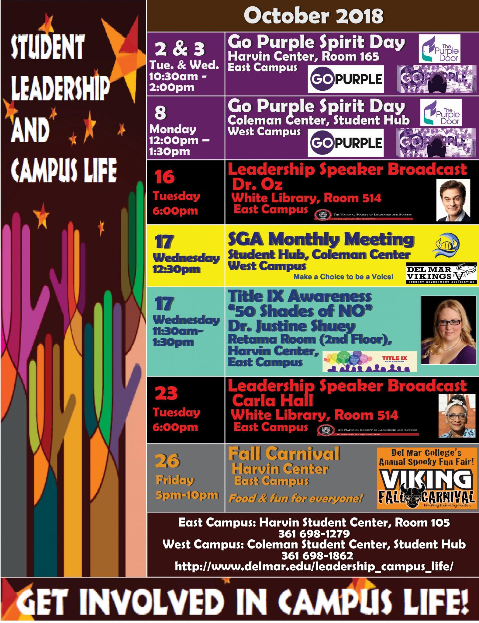 DMC October Events