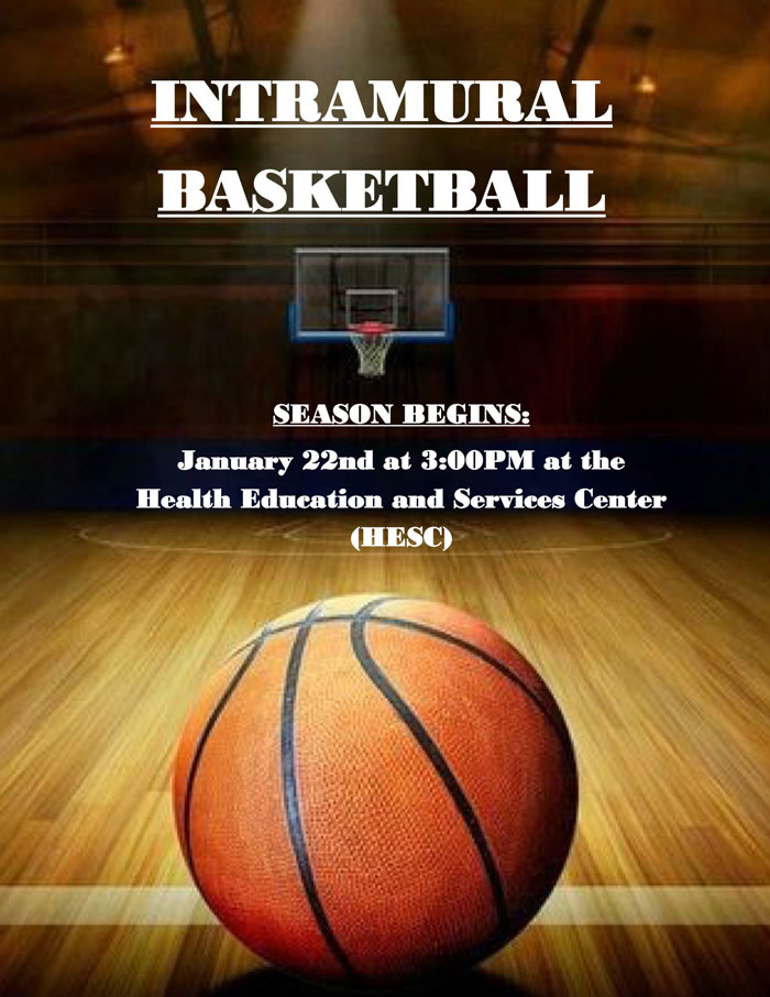 Coming Soon! Intramural Basketball 2018 Season