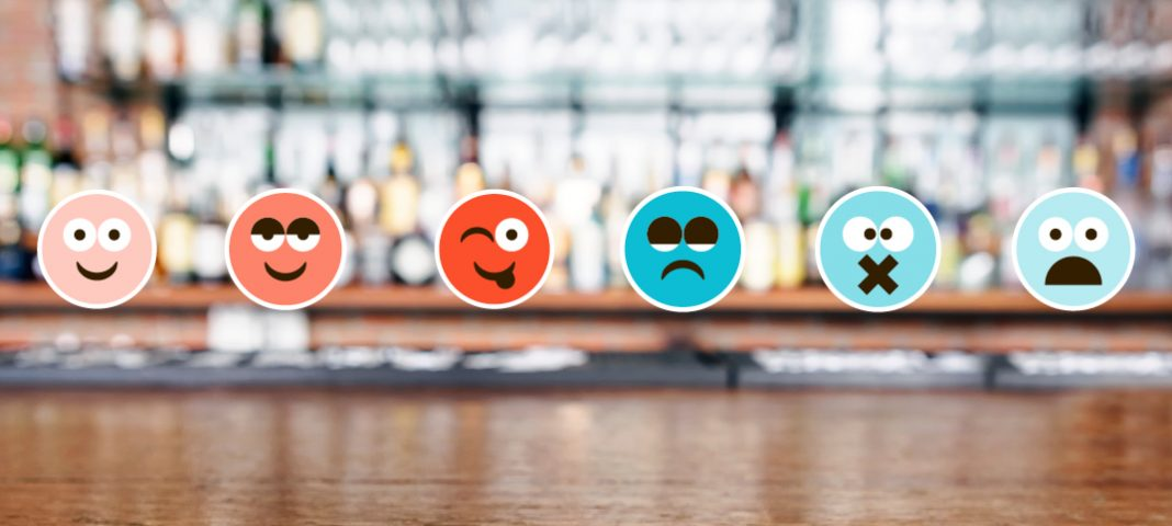 A bar with emojis