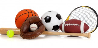 Pile of sport-related equipment