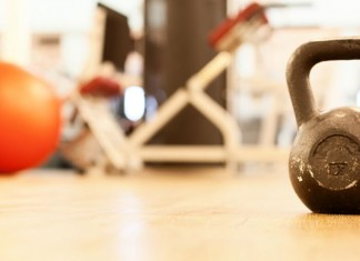 Kettlebell in gym