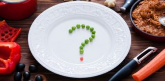 Plate with question mark in the middle
