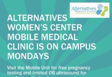 Free Pregnancy Testing on Mondays