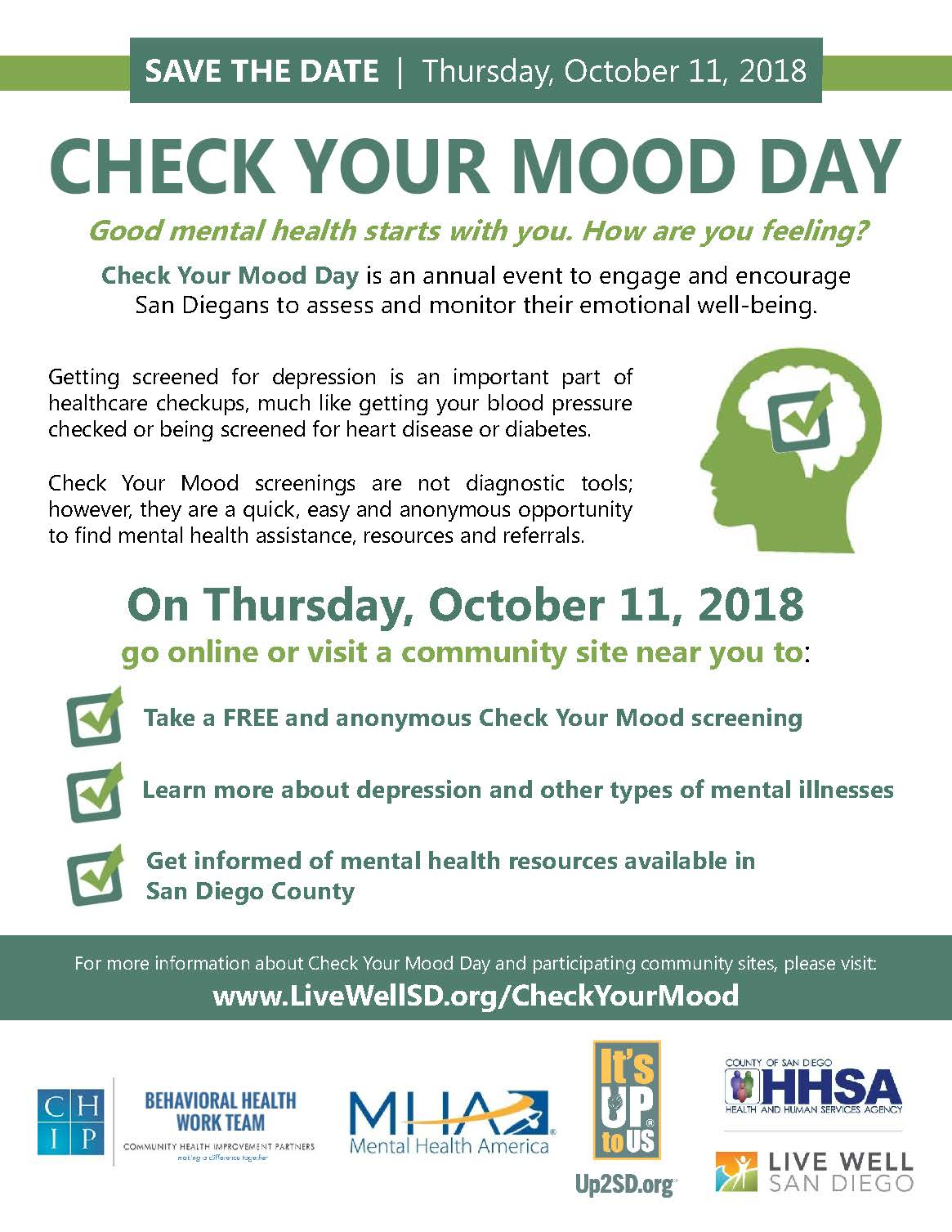 Check Your Mood Day 2018