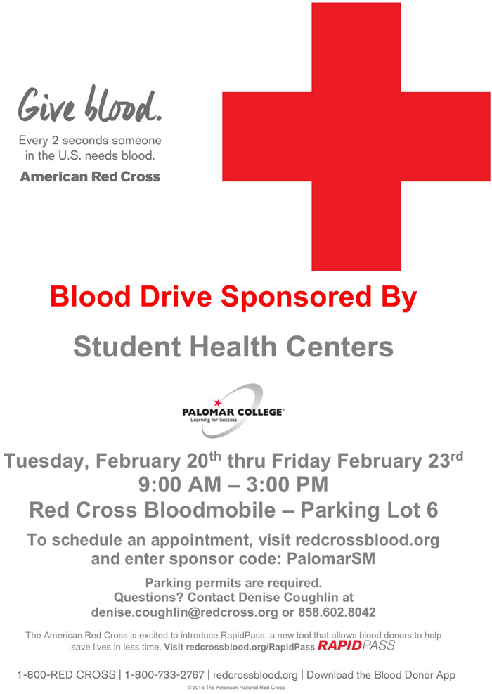 Palomar College Blood Drive