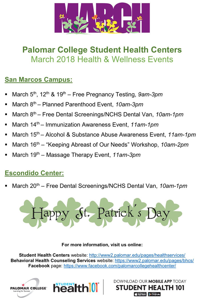 March Health & Wellness Events