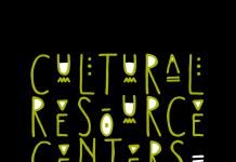 Black background with the words Cultural Resource Centers in lime green.
