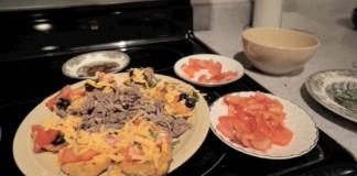 Yam and veggie nachos