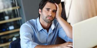 man looking stressed