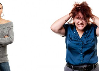 Two frustrated women