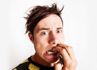 guy biting nails