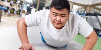 Man doing a push up