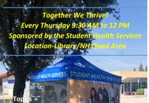 Together WE THRIVE weekly tent event. Wednesdays beginning 1/29