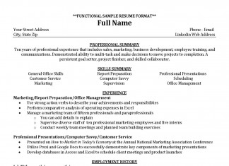 Resume Example: Functional Resume