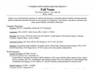 Resume Example: Combination Resume