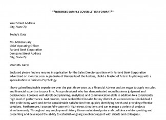 Cover Letter Examples – Business Sample