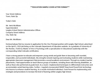 Cover Letter Examples – Education Sample