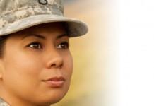 Service woman in uniform
