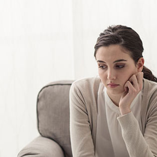 Woman talking to a counselor