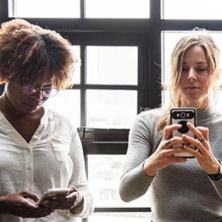 Women texting