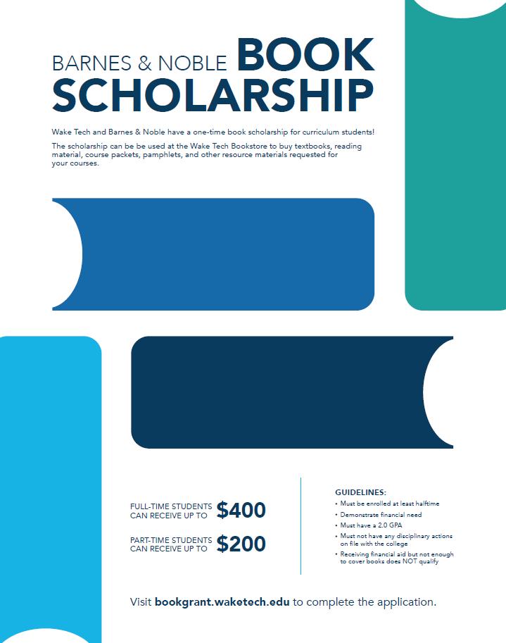 Barnes Noble Book Scholarship Wake Technical Community College